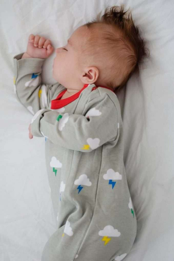 Lil' Cubs Clouds & Bolts Sleepsuit