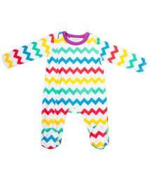 Chevron sleepsuit by Lil' Cubs (front)