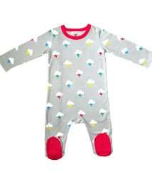 Clouds and Bolts sleepsuit by Lil' Cubs (front)