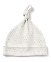 French Grey Little Kisses Knot Hat by From Babies with Love
