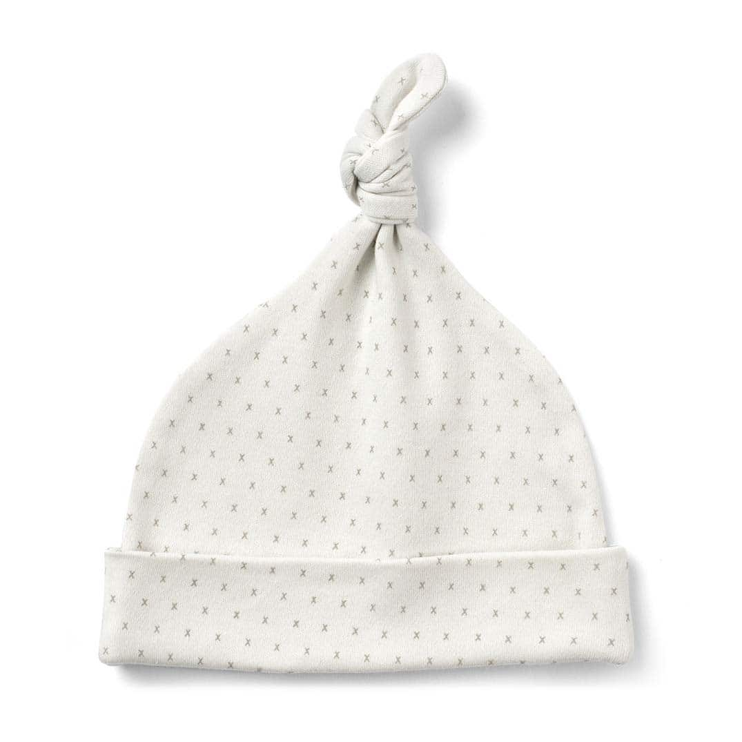 bb1afd123d0 French Grey Little Kisses Knot Hat by From Babies with Love