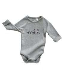 Grey 'Milk' Body by Organic Zoo (flatlay)