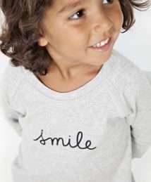 Grey 'Smile' Sweatshirt by Organic Zoo