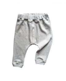Grey stripe pants by Organic Zoo (flatlay)