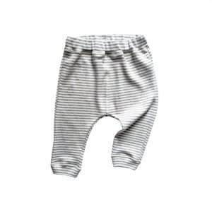 Grey stripe pants by Organic Zoo (flatlay)