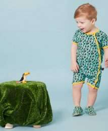 Laughing in toucan mini shoes by Poco Nido