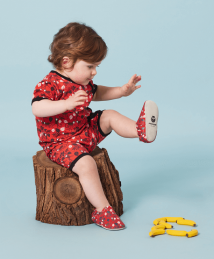 Monkeying around in monkey mini shoes by Poco Nido