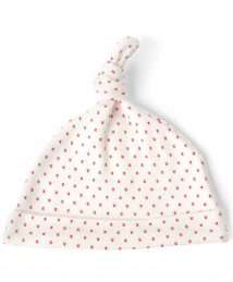 Red Little Kisses Knot Hat by From Babies with Love