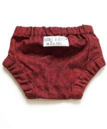Red flannel bloomers by Bumble Blooms (back)