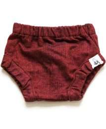 Red flannel bloomers by Bumble Blooms (front)