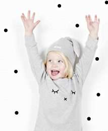 Bunny hat & grey 'Smile' sweatshirt by Organic Zoo