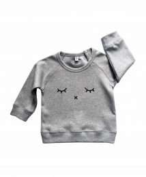 Grey 'Sleepy' Sweatshirt by Organic Zoo (flatlay)