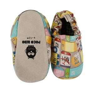 Travel mini shoes by Poco Nido (top & sole)