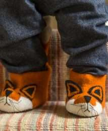 Finlay Fox children's slippers by Sew Heart Felt