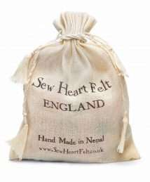 Sew Heart Felt England organic cotton drawstring bag