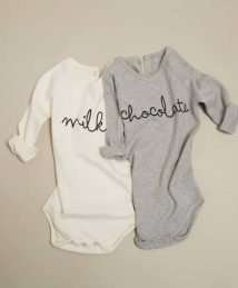 Cream 'Milk' Body & grey 'Chocolate' body by Organic Zoo