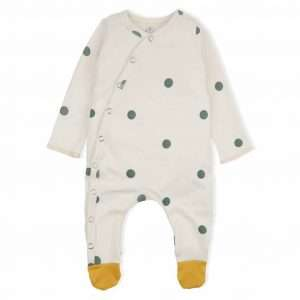 Dots Sleepsuit with contrast feet by Organic Zoo