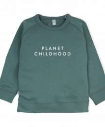 Pine Green 'Planet Childhood' Sweatshirt by Organic Zoo