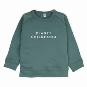 Pine Green 'Planet Childhood' Sweatshirt by Organic Zoo