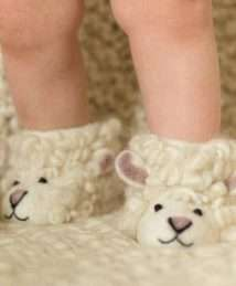 Shirley Sheep Slippers by Sew Heart Felt