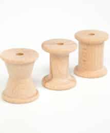 © Joguines Grapat: 3 Spools Natural Wood