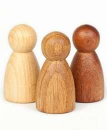 © Joguines Grapat: 3 Natural Wooden Nins®