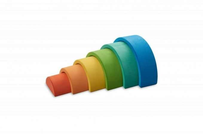 Ocamora 6 piece rainbow (blue)