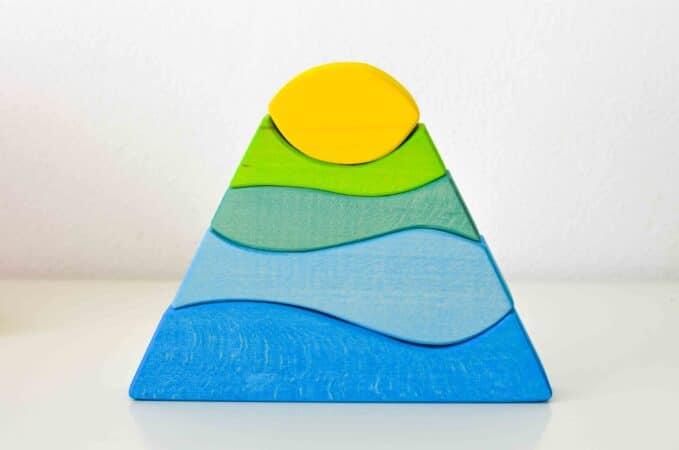Ocamora Blue & Yellow Stacking Mountain