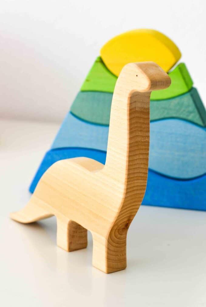 Ocamora Wooden Diplodocus Dinosaur