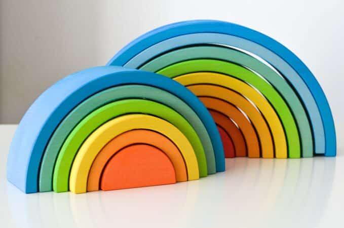 Ocamora blue 6- and 9-piece rainbows