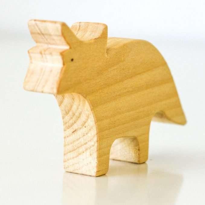 Ocamora wooden triceratops