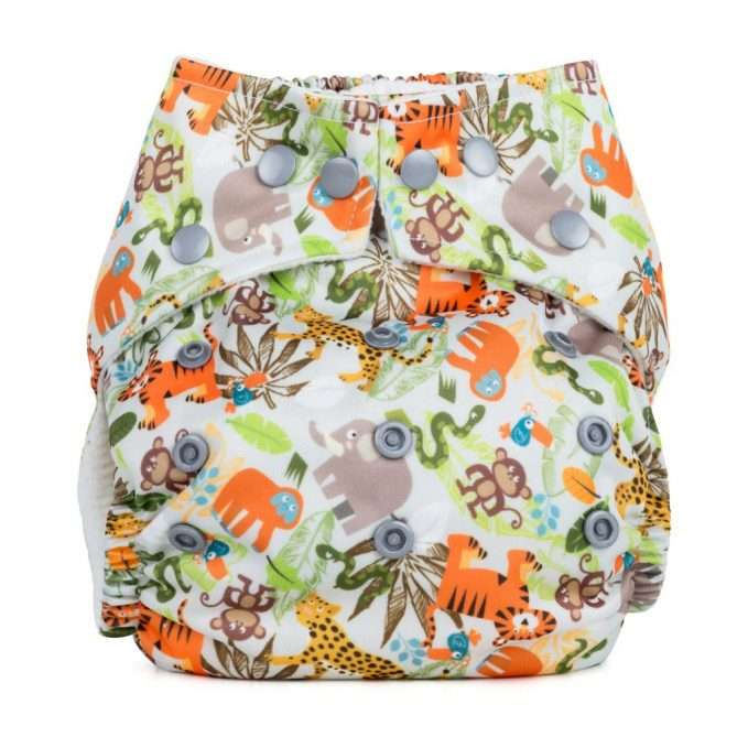 Baba+Boo Jungle Friends One Size Reusable Nappy