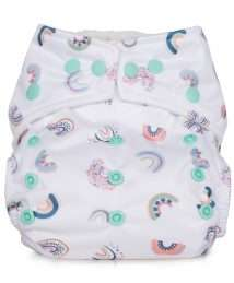 Baba+Boo One Size Reusable Pocket Nappy - Rainbows (Hope Collection)