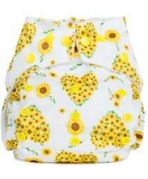 Baba+Boo Sunflowers One Size Reusable Nappy