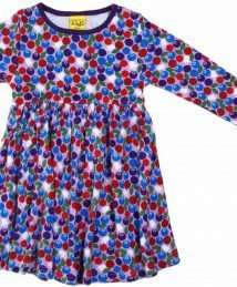 Blueberry Purple Long sleeve Dress with gather skirt by Duns Sweden