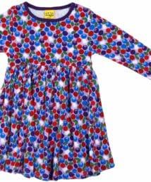 Bio lila Blaubeeren Kleid (langarm) von DUNS Sweden