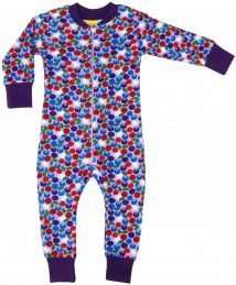 Blueberry Purple Zip Suit by Duns Sweden