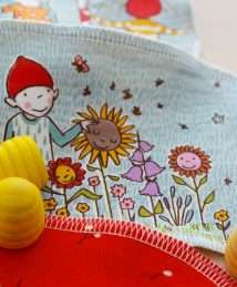 KrokoBaby washable wipes organic cotton flanel - save the bees