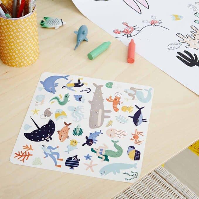 Olli Ella Playpa Stickers - Ocean