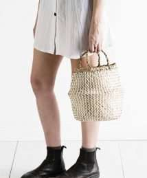 Olli Ella Zig Zag Belly Basket - Small