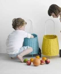 Olli Ella Yellow Luggy Basket for Kids