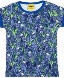 Snowdrops Blue Short Sleeve Top by Duns Sweden