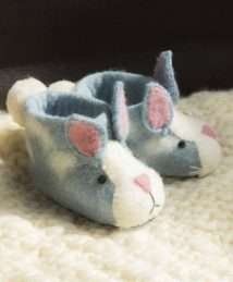 Rory Rabbit Slippers by Sew Heart Felt
