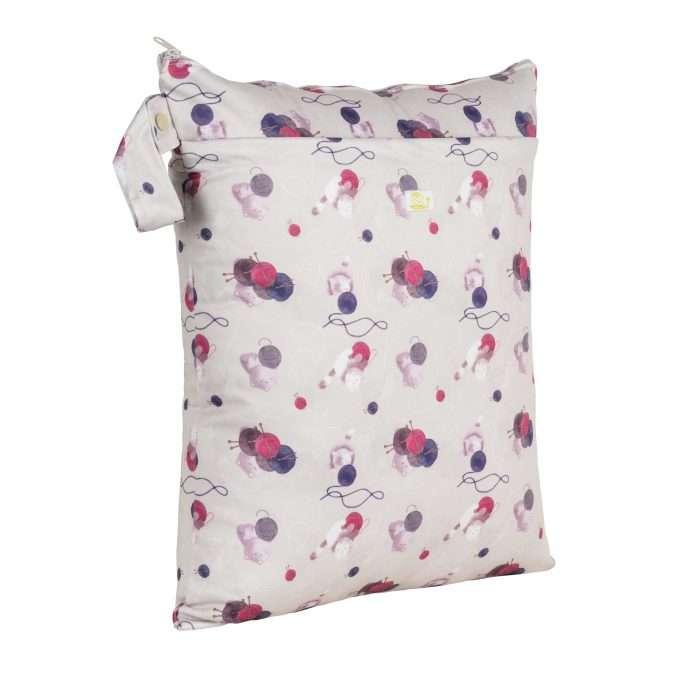 Baba+Boo Medium Reusable Nappy Bag - Knitting