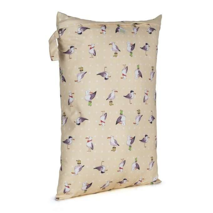 Baba+Boo Seagulls Reusable Nappy Bag - Large