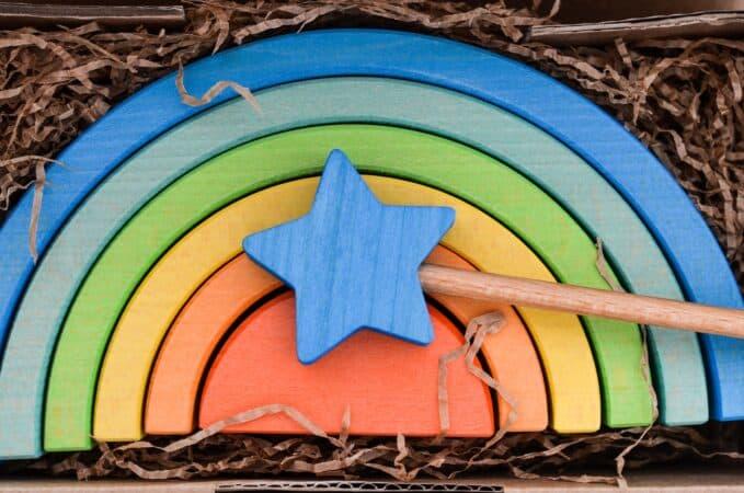 Ocamora blue wand & blue 6-piece rainbow