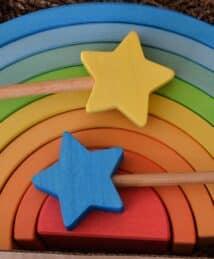 Ocamora wands & blue 9-piece rainbow