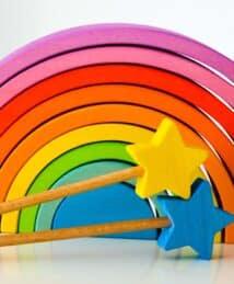 Ocamora wands & purple 9-piece rainbow