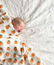 Lil' Cubs Oranges & Lemons Swaddle Muslin