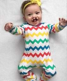 Lil' Cubs Rainbow Chevrons Sleepsuit
